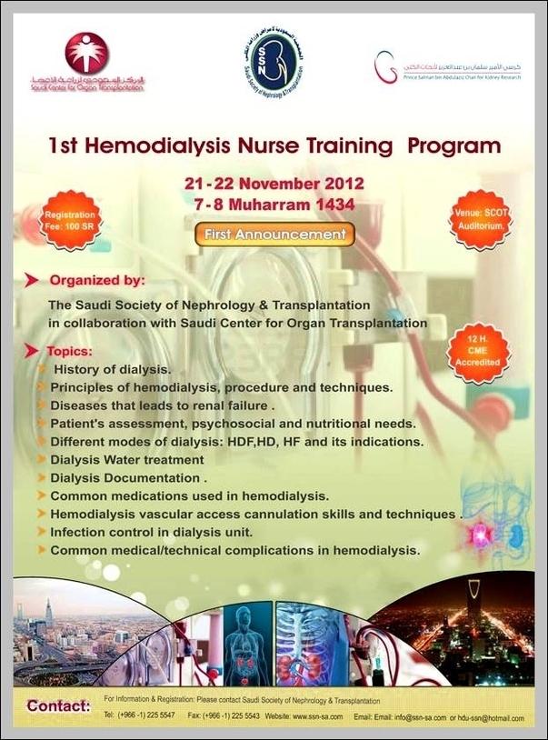 Hemodialysis Nurse Training Graph Diagram