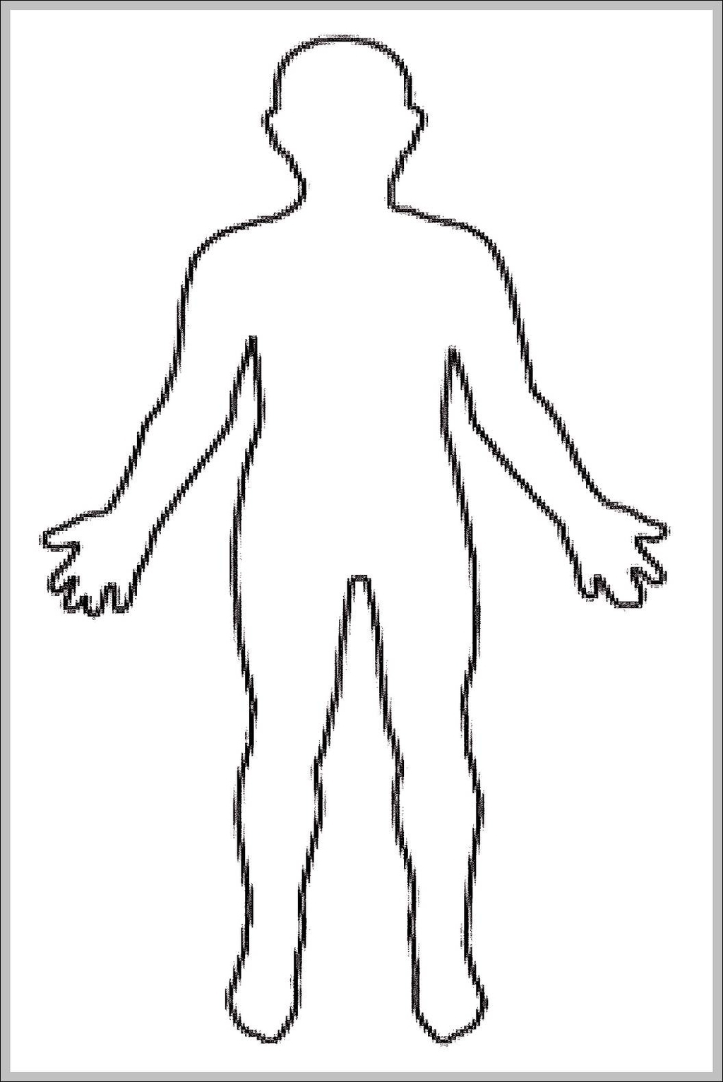 Human Body Outline For Kids Graph Diagram